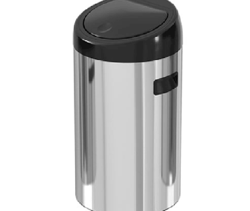 40 liter touch door stainless steel trash can – ekaelectric