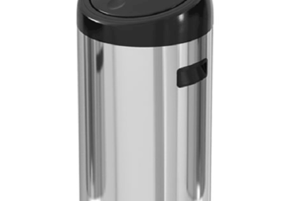 45 liter touch door stainless steel trash can – ekaelectric
