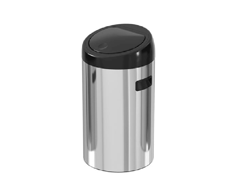 20 liter touch door stainless steel trash can – ekaelectric