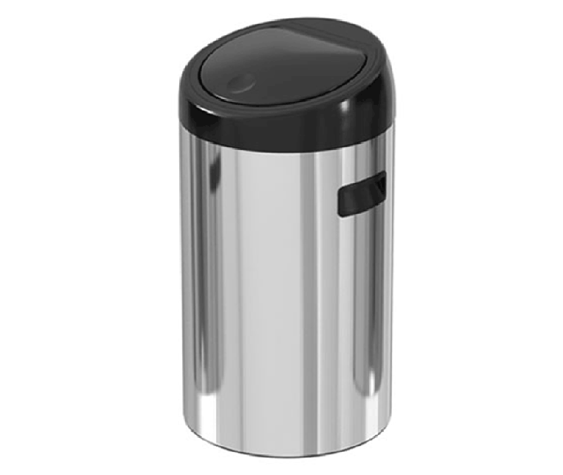 30 liter touch door stainless steel trash can – ekaelectric