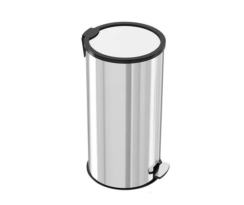 30 liter stainless steel pedal trash- Silent door – akaelectric