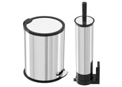 سطل زباله پدالی استیل 5 لیتری به همراه برس توالت شوی – اکاالکتریک