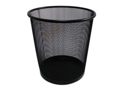 Round net metal trash can – Lace trash can under office desk – akalectric