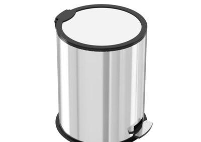 سطل زباله پدال دار 16 لیتری آرام بند – سطل زباله پدالی 16 لیتری استیل – اکاالکتریک